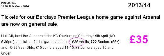 Hull City v Arsenal 2013-14
