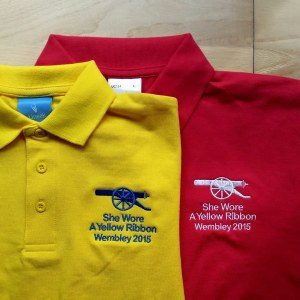 She Wore A Yellow Ribbon Polo shirts now in the shop - click picture for the shop