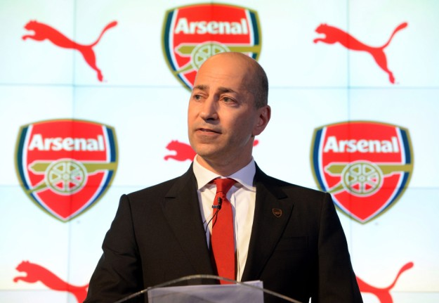 LONDON, ENGLAND - JANUARY 27: Ivan Gazidis the CEO of Arsenal annouces the partnership between Arsenal and Puma at Emirates Stadium on January 27, 2014 in London, England. (Photo by David Price/Arsenal FC via Getty Images)