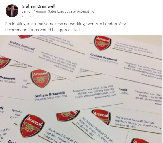 Has the arsenal executive bubble burst she wore a yellow ribbon then finally we have the senior sales executive bloke doing what is known as throw your business cards on the table take a picture stick it on linkedin colourmoves Images
